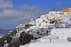 Village Karterados on greek island Santorini Stock Photos