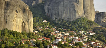 Village of Kastraki at Meteora Greece Stock Images