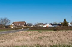 Village of Kastrup in Denmark. On a spring day Stock Images