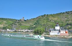 Kaub,Rhine River,Germany stock photography