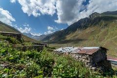 Village of Kavrun plateau or tableland in Kackar Mountains. Or simply Kackars in Camlihemsin, Rize, Turkey Stock Image