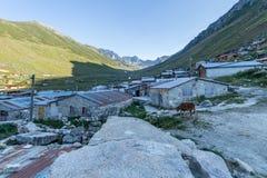 Village of Kavrun plateau or tableland in Kackar Mountains. Or simply Kackars in Camlihemsin, Rize, Turkey Royalty Free Stock Photos