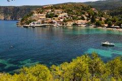Village Kefalonia d'Assos Images libres de droits