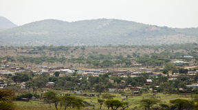 Village in kenya Stock Images
