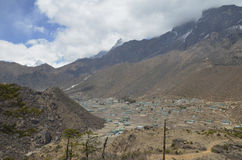 The Village of Khumjung Stock Photo