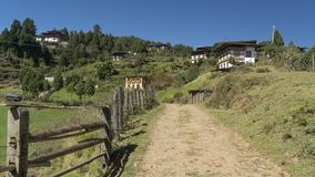 Village. Kingdom of Bhutan Royalty Free Stock Photography