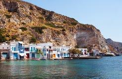 Village of Klima. Milos Island, Greece. Stock Photos