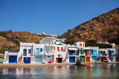 Village of Klima. Milos Island, Greece. Royalty Free Stock Photography
