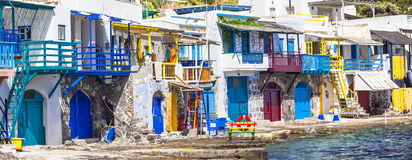 Village Klima on Milos island Royalty Free Stock Image