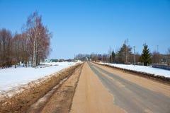 Village Klushino de Rusian Photos stock