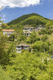 Village of Kosovo with Authentic nineteenth century houses, Plovdiv Region, Bulgaria. View of village of Kosovo with Authentic nineteenth century houses, Plovdiv stock image
