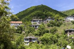 Village of Kosovo with Authentic nineteenth century houses, Plovdiv Region, Bulgaria. View of village of Kosovo with Authentic nineteenth century houses, Plovdiv royalty free stock images
