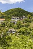 Village of Kosovo with Authentic nineteenth century houses, Plovdiv Region, Bulgaria. View of village of Kosovo with Authentic nineteenth century houses, Plovdiv stock photo