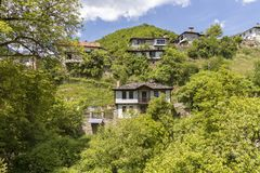 Village of Kosovo with Authentic nineteenth century houses, Plovdiv Region, Bulgaria. View of village of Kosovo with Authentic nineteenth century houses, Plovdiv royalty free stock photo