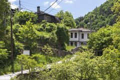 Village of Kosovo with Authentic nineteenth century houses, Plovdiv Region, Bulgaria. View of village of Kosovo with Authentic nineteenth century houses, Plovdiv stock photography