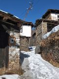 Village of Kovachevitsa with Authentic nineteenth century houses, Blagoevgrad Region Stock Photos
