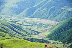 Village in Kurah-chai valley Stock Photography