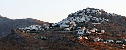 Village on Kythnos island Royalty Free Stock Photos