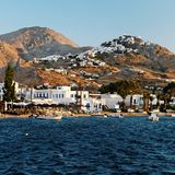 Village on Kythnos Island Stock Photography