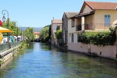 Village L'Isle-sur-la-Sorgue - Venice of Provence Stock Image