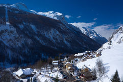 The village La Grave in France Stock Photos
