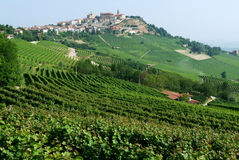The Village of La Morra in Piedmont Royalty Free Stock Photography