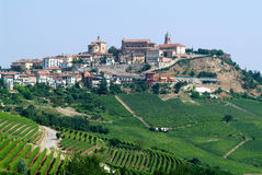 The Village of La Morra in Piedmont Stock Images