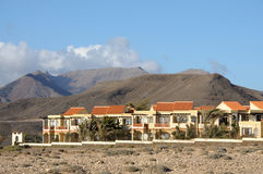 Village La Pared. Canary Island Fuerteventura. Residential houses in La Pared. Canary Island Fuerteventura, Spain Stock Photo