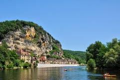 village of la roque Gageac Royalty Free Stock Photos