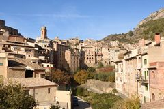 A village of La Vilella Baixa, el Priorat, Tarragona, Catalonia, S. Village of La Vilella Baixa, el Priorat, Tarragona, Catalonia, Spain Royalty Free Stock Photography