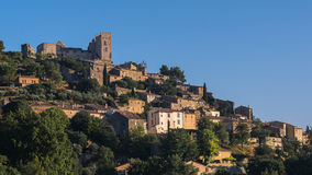 The village of Lacoste in Provence in the early morning, France Royalty Free Stock Photo