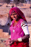 Village lady, Rajasthan, India Royalty Free Stock Photos