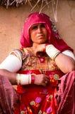 Village lady, Rajasthan, India stock photography