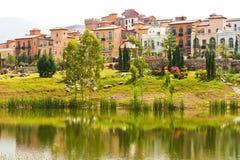 Village lagoon on daylight Royalty Free Stock Image