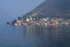 Village on the lake Stock Image
