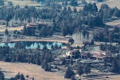 Village by lake Stock Photos