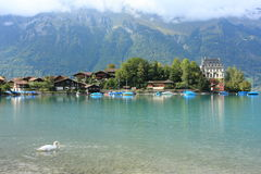Village and lake in Central Switzerland Royalty Free Stock Photo