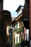 Village on Lake Como in Italy Stock Image
