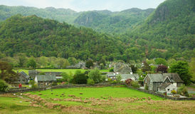 Village in Lake District. Cumbria. UK Royalty Free Stock Photo