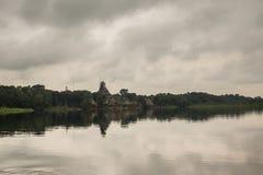 Village at the lake royalty free stock photography