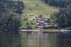 Village in lake grundlsee, Austria Royalty Free Stock Photos