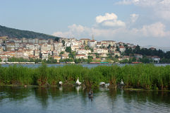 Village And Lake Of Kastoria Royalty Free Stock Images