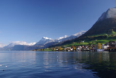 Village on Lake Lucerne Royalty Free Stock Photos