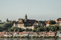 Village on the lake side Stock Photography