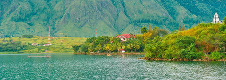 Village on Lake Toba in Sumatra. Indonesia, Southeast Asia Stock Photography