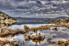 Village by the Lakeshore - HDR Royalty Free Stock Image