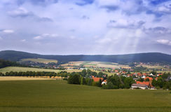 Village landscape Royalty Free Stock Images