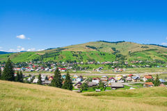 Village landscape. In the North of Romania. Gura Humorului Royalty Free Stock Image