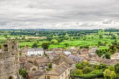 Village landscape around Middleham Castle Royalty Free Stock Image