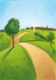 Village Landscape Royalty Free Stock Image